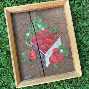 Vintage strawberry Painting